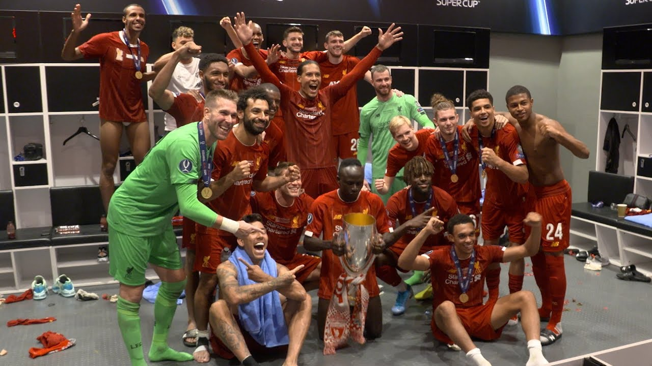 Inside the dressing room for Liverpool's Super Cup celebrations | EXCLUSIVE FOOTAGE from Istanb