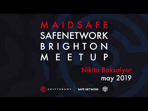 Nikita Baksalyar Talks SAFE & Solid (Cryptonomy Meets Crypto Experts - May/2019)