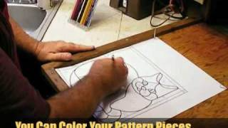 Cutting Stained Glass Pattern Pieces