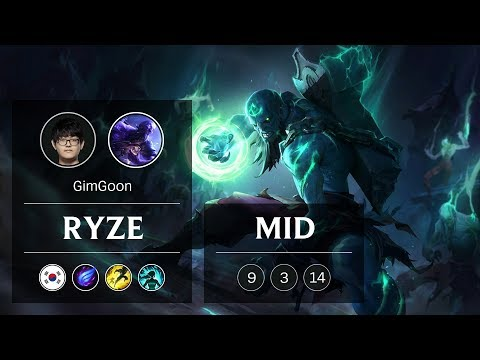 Ryze Mid vs Zoe - KR Grandmaster Patch 9.3
