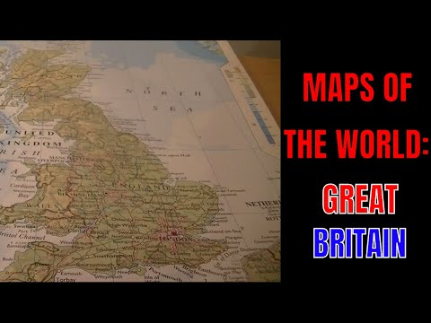 [ASMR] Maps Of The World. Part 8: Great Britain