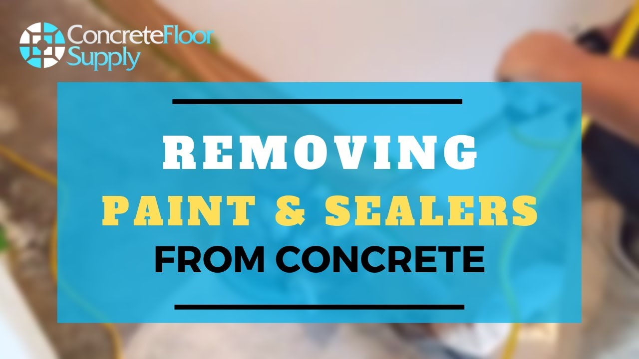 removing paint and sealers from concrete youtube. Black Bedroom Furniture Sets. Home Design Ideas