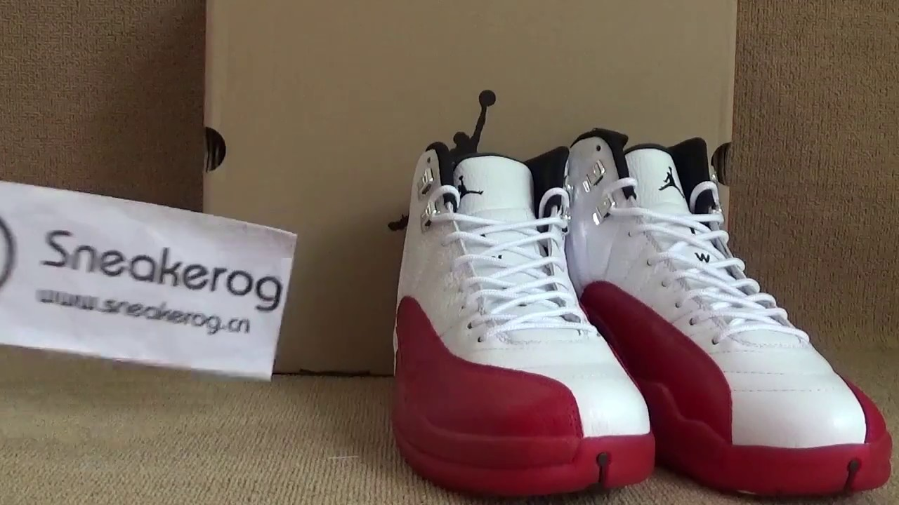 "4f6dc8e6316b53 Authentic Air Jordan 12 Retro ""Cherry"" 2017 from sneakerog com - YouTube"