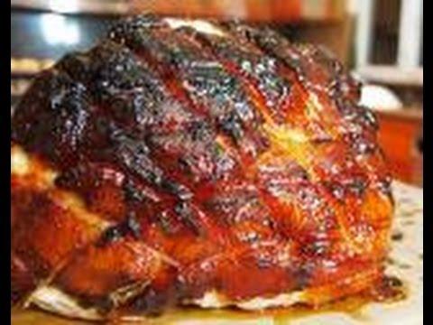 how to cook glaze a smoked toupie ham