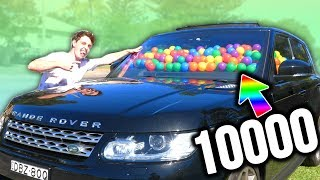 10000 BALLS IN MY MOTHERS CAR PRANK!