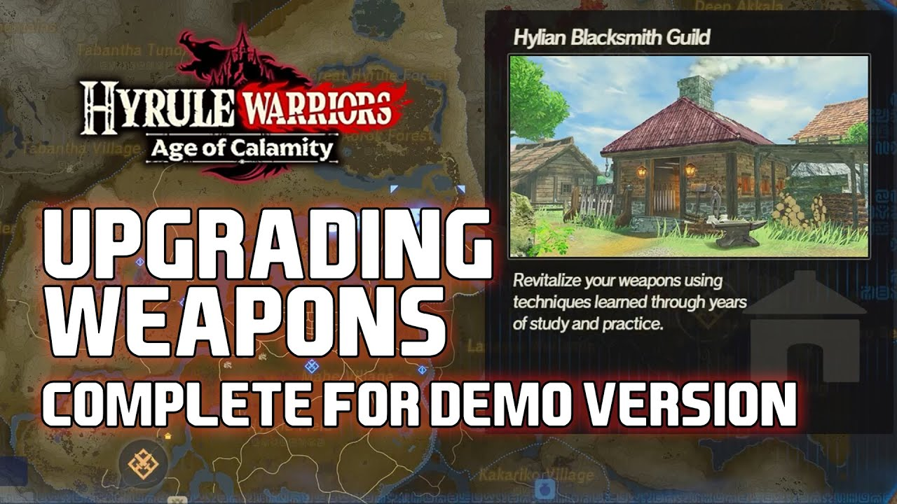 Hyrule Warriors Age Of Calamity Weapon Upgrade Guide Youtube
