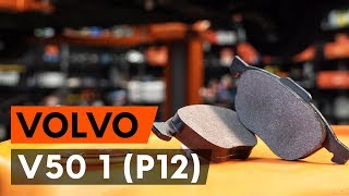 How to change front brake pads / front brake pad set on VOLVO V50 1 (P12) [TUTORIAL AUTODOC]