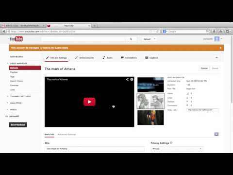 YouTube Sharing private videos via email