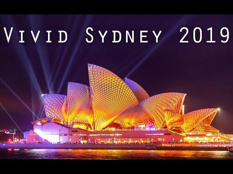Vivid Sydney 2019 Light Show - Sydney Opera House, Harbour Bridge, MCA, Customs House, & More