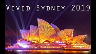 Vivid Sydney 2019 Light Show - Sydney Opera House, Harbour Bridge, MCA, Customs House, & More