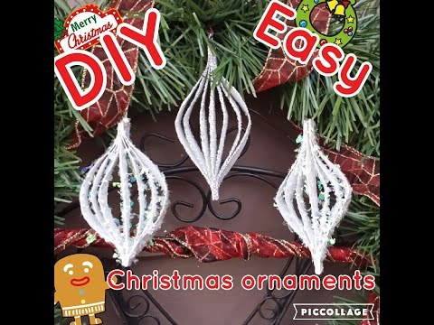 DIY Easy christmas ornaments