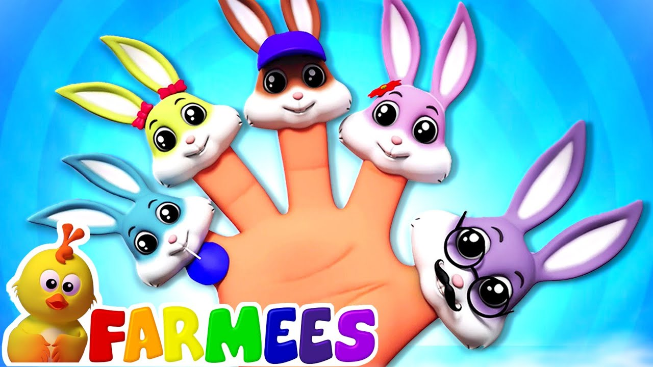 Baby Finger | Daddy Finger | Rabbit Finger Family Song | Rabbit Song | Nursery Rhymes with Farmees