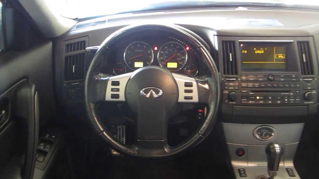 2004 infiniti fx35 silver stock 201881 interior youtube vanachro Choice Image