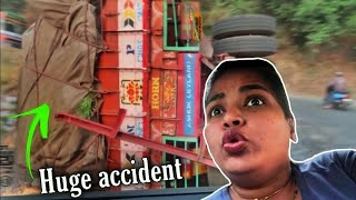Lorry accident on the way to Karnataka | Road trip to Kabini