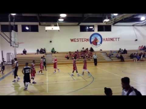 Latrell Lloyd # 24 Overhills Middle School VS Western Harnett Middle School
