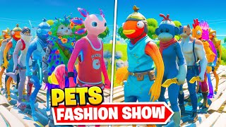 *PET* Fortnite Fashion Show! FIRE Skin Competition! Best COMBO WINS!
