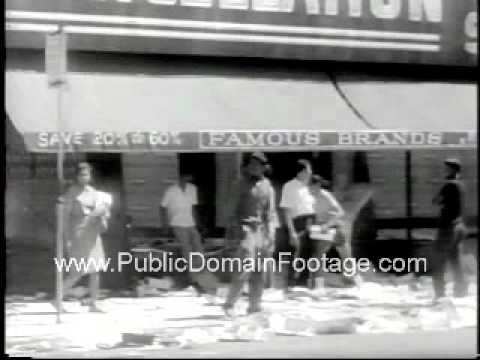 Detroit Civil Rights Riots July 1967 Newsreel and Footage www.PublicDomainFootage.com