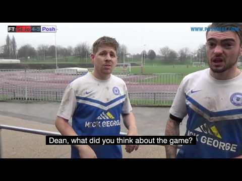 Liam avey and Dean Connoley on Peterborough's defeat to St John's reserves