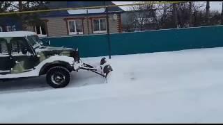 Поворотный отвал для чистки снега