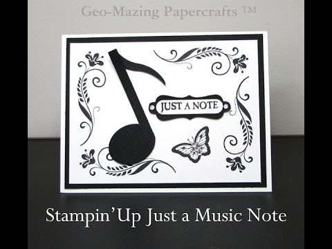 Stampin'Up Just a Music Note Card