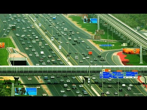 ( Dubai Sheikh Zayed Road ) Jebel Ali Industrial Area 1  to  Al Ghubaiba Bus Station journey HD