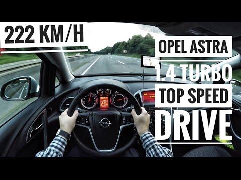 Opel Astra J 1.4 Turbo (2015) - POV on German Autobahn - Top Speed Drive