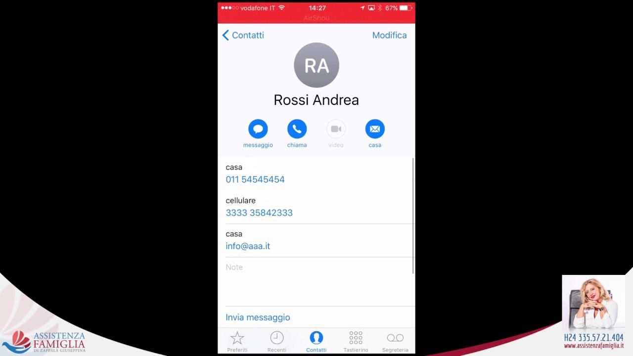 copiare contatti da iPhone a SIM con My Contacts Backup