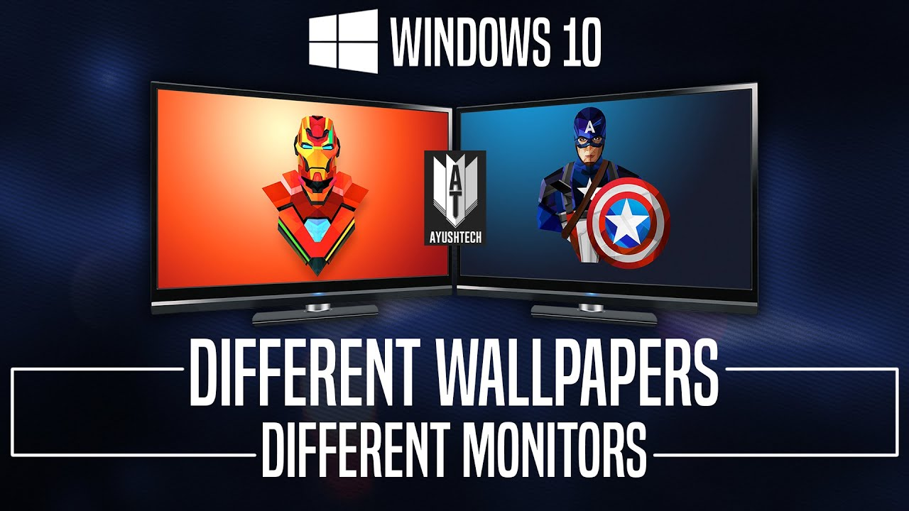 Set Different Wallpapers on Multiple Monitors in Windows 10 (Simple How to) - YouTube