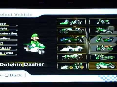 Mario kart wii all characters karts and bikes unlocked for Coupe miroir mario kart wii