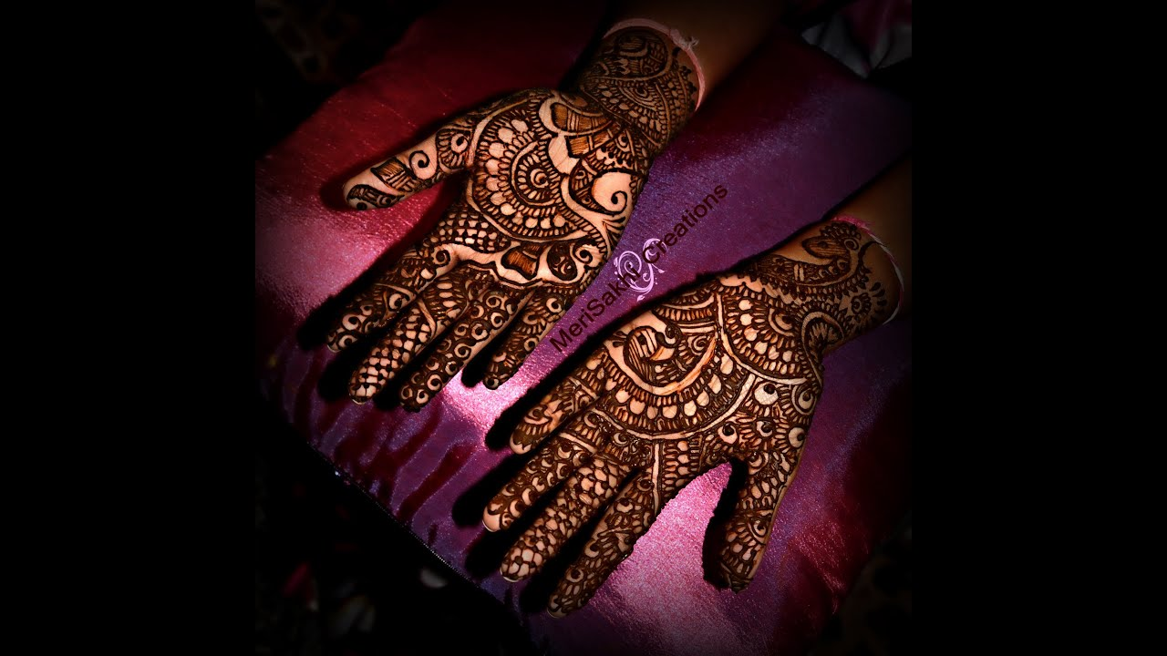 Indian mehndi design - YouTube
