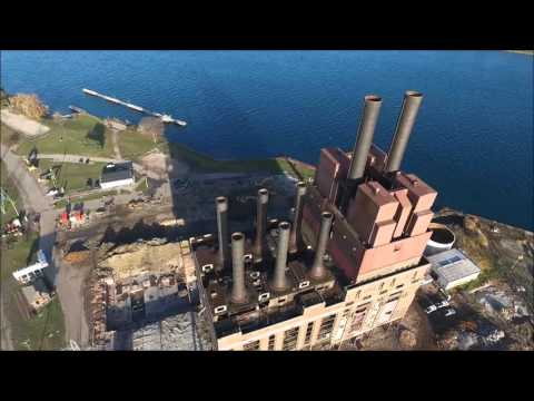 Marysville, Michigan. DTE Energy power plant Implosion
