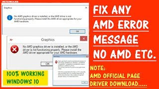 How to fix any AMD Driver Problem in Windows 10  [UPDATED OFFICIAL AMD PROCESS 2018]