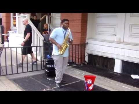 Playing the Sax at West End Station Dallas