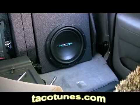 New Toyota Tacoma >> Toyota Tacoma Subwoofer Speaker Installation New Stereo ...