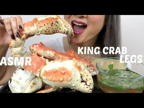 KING CRAB LEGS | ASMR Eating Sounds | N.E Lets Eat