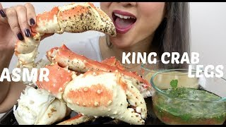 connectYoutube - KING CRAB LEGS | ASMR Eating Sounds | N.E Lets Eat