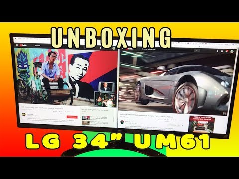 "Review Unboxing LG 34"" 34UM61 IPS Ultra-Wide Monitor 1080p ( THIS IS BIG! )"