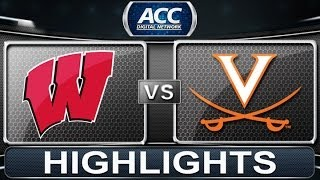 Wisconsin vs Virginia | 2013 ACC Basketball Highlights
