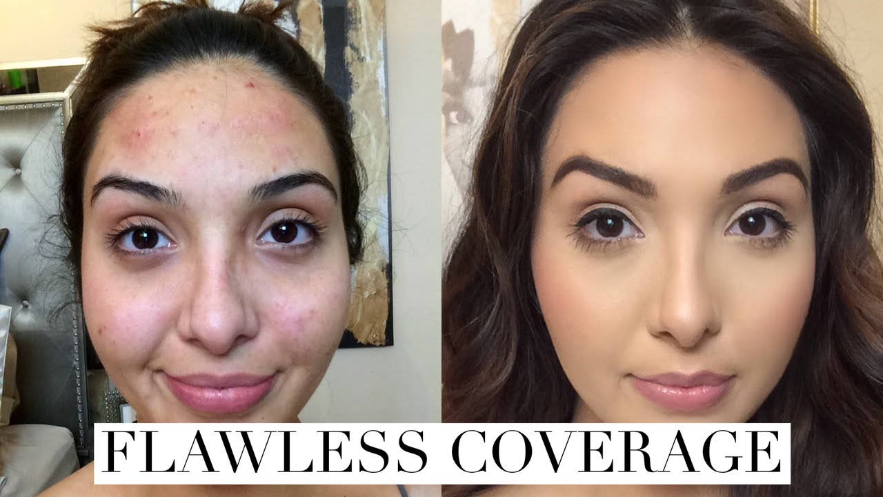 How to cover acne breakouts dark spots with makeup youtube ccuart Image collections
