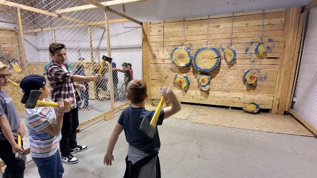 Axe Throwing Kids Birthday Party (Kiss My Axe) - Off The Couch