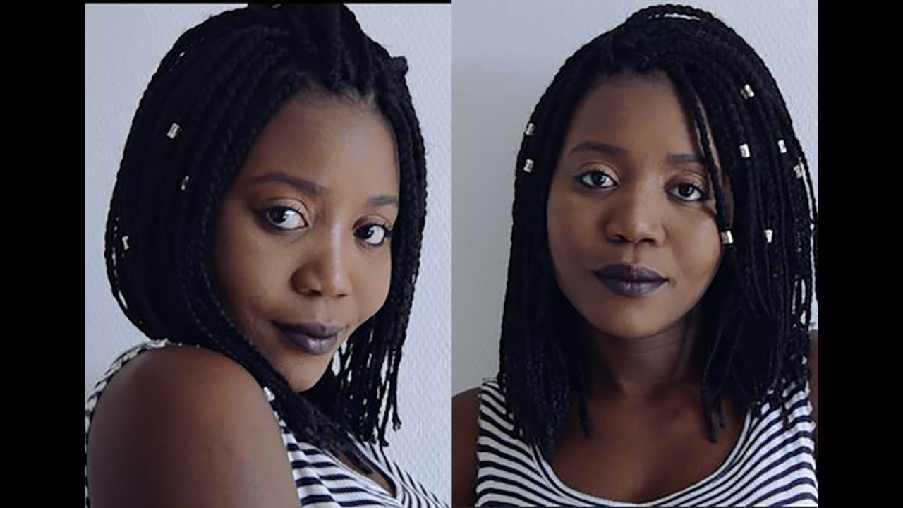 Diy How To Bob Box Braids Youtube