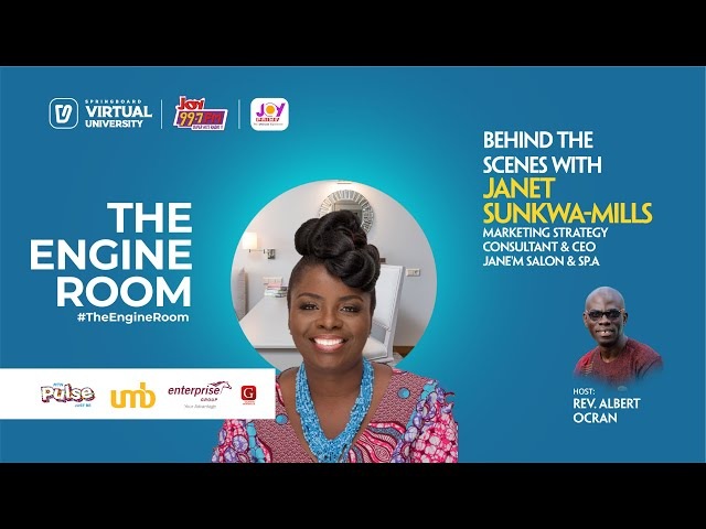Janet Sunkwa-Mills shares about leaving her corporate job and pursuing her passion in #TheEngineRoom