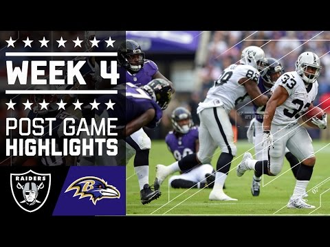 Raiders vs. Ravens | NFL Week 4 Game Highlights