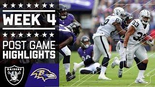 Raiders vs. Ravens   NFL Week 4 Game Highlights