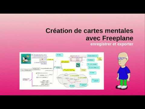 Enregistrer et exporter un document Mind Map sous Freeplane