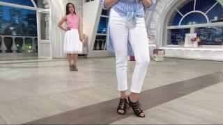 b0e689d45 Clarks Nubuck Leather Block Heel Ghillie Sandals - Banoy Wanetta On QVC -  Education Video