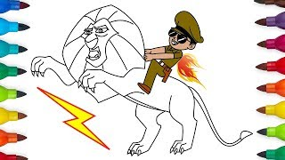Little Singham Animation Cartoon Coloring Page - How To Draw Little Singham Coloring Page, Part 06