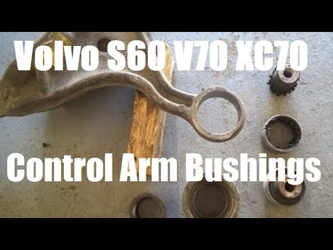 Volvo S60 V70 Alloy Control Arm Small bushing Replacement DIY 2001-2006