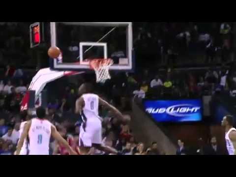 Biyombo Block on Harden |  Rockets @ Bobcats | NBA Season 2012/13