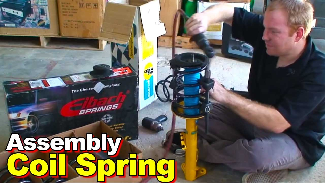 How To Compress Replace A Strut Coil Spring W The Somewhat 2012 Toyota Camry Engine Parts Diagram Dangerous Cheap Compressor Youtube